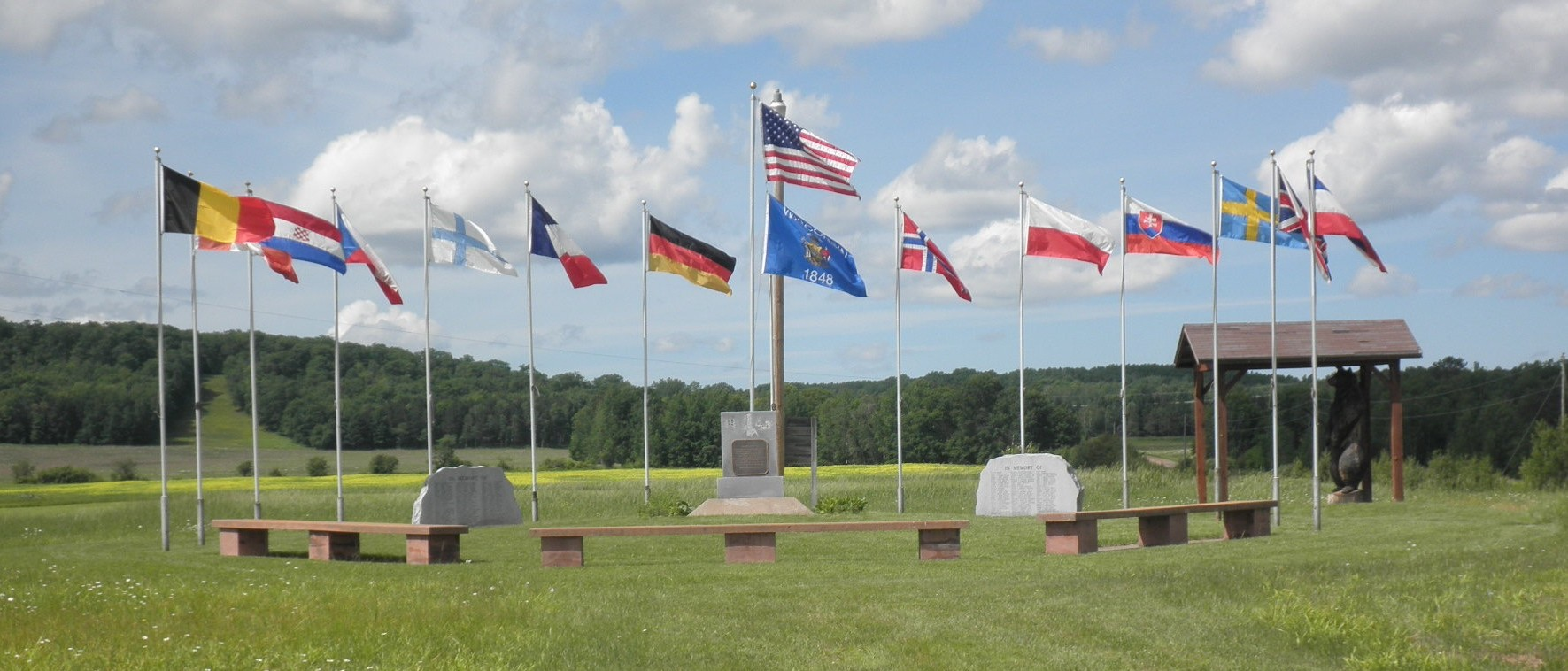 The Memorial Marker site on the grounds of the Pilsen Town Hall, Moquah, Wisconsin.